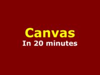 canvas in 20 minute