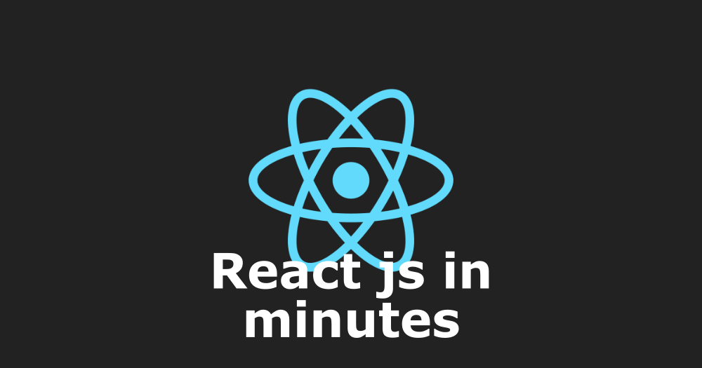 React js in 20 minutes - Way of webs